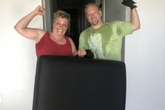 Move in day (with this massage table) was on our 16th Anniversary! Ready for a new adventure!